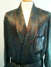 Harrods Silk Robe. One of 3 Ever Made Hand Silk Screened Worn Twice New 'H' Box