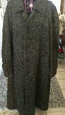 Burberry men's Black and white Tweed Outer coat made in USA.