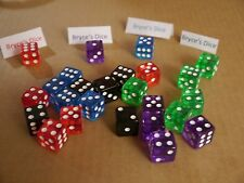 NEW 25 Mixed Red Blue Green Purple RPG Bunco Gaming Dice 16mm D6 Great Quality