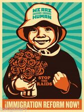 1st Orig Release! Rare SHEPARD FAIREY Obey IMMIGRATION REFORM NOW Boy S/N Print