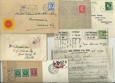 * 1846/1968  8 x GRIMSBY & CLEETHORPES POSTAL HISTORY COVERS & CARDS POSTMARKS