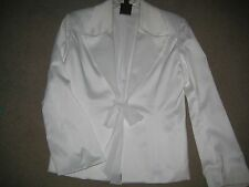 Gorgeous White Satiny Jacket by JS Collections