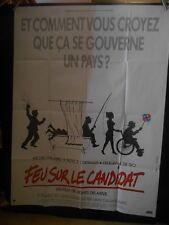 AFFICHE originale grand format ( 120 x 160 ) FEU SUR LE CANDIDAT -