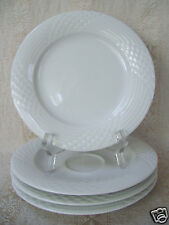 """HUTSCHENREUTHER SCALA LINE BIANCA GLOSSY PATTERN 4 PLATES 6.5"""" AND ONE SAUCER"""
