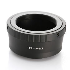 T2 Camera T Mount Lens Adapter to Micro 4/3 M43 for Olympus E-P5 E-PL7 Panasonic