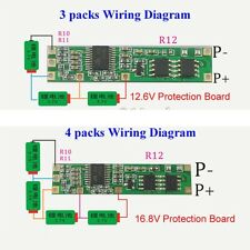 Battery BMS Protection PCB Board 3/4 packs 18650 Li-ion lithium Battery 3s 4s