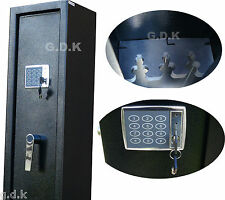 DEMO- DIGITAL VAULT LOCKING 3 GUN CABINET, SHOTGUN SAFE, 2 SCOPED RIFLE CABINET,