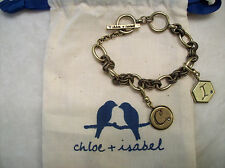 Chloe and Isabel Tresors Toggle Bracelet New Vintage-Inspired 2 Charms C&I