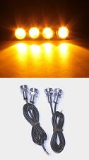 4x Orange LED Boat Light Waterproof Party Pontoon Ship Trailer Lighting Pods