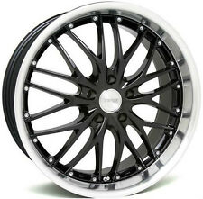 "18"" MRR GT1 Wheels Set For Audi A4 B5 B7 18X8.5"" 5X112 Black Mesh Rims Set"