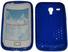 For Samsung Galaxy Ace Plus GT S7500 Pattern Gel Case Protector Cover Blue New