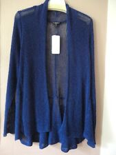 EILEEN FISHER Womans 2X  Airy Linen Flutter Cardigan Grain Rib Persian Blue NWT