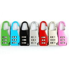 Fashion Travel Suitcase Luggage Resettable Code Lock Padlock 3 Digit Combination