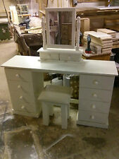 OLD MILL FURNITURE CAMBRIDGE CREAM 8 DRAWER DRESSING TABLE SET NO FLAT PACKS