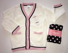 NWT Gymboree Tres Fabulous 3 3T Ivory Cardigan & Black Polka Dot Leggings