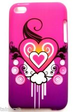 iPod Touch 4 Tattoo Heart Pink and Purple Case Cover