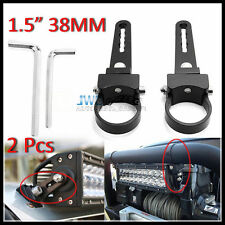 "2Pcs 1.5"" Mount Bracket Clamp Bull Roll Nudge Bar For HID LED Light Bar Off Road"