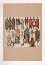 Costume Mode Vintage print ~ Byzance empereur officiers évêque Grec Abbé