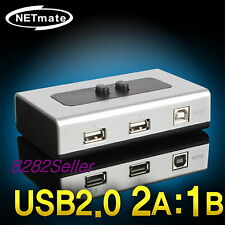2 Port USB 2.0 Manual Sharing Switch BOX Printer Scanner 2:1 2A 1B SELECTOR NEW