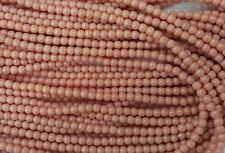 100 Salmon Pink Opaque Czech Pressed Glass Round Beads 4mm