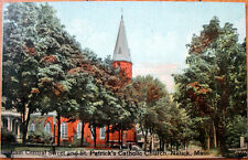 1911 Postcard: St. Patrick's Catholic Church - Natick, Massachusetts MA