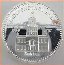"""1 oz .999 Silver """"INDEPENDENCE HALL- LET FREEDOM RING"""" Art Round/Bar 6208"""