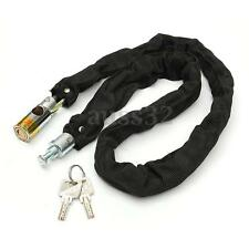 80cm Motorbike Bicycle Cycle Cable Bike Lock & Chain Security Scooter Padlock