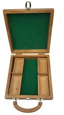 WOODEN POKER CHIP CASE AND TRAY - NEW