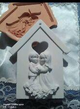 Stampo casetta sposi in gomma siliconica per gessetti bomboniera segnaposto