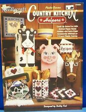 Plastic Canvas pattern Book-COUNTRY KITCHEN HELPERS-towel holders,recipes, &more