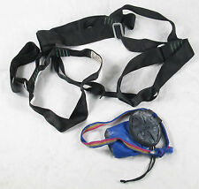"EMS Rock Climbing Harness, Waist up to 32"" Nice Begginer Harness w/ Chalkbag!"