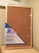 "Brand new framed cork board 11"" x 17"" wood"