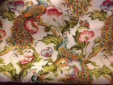 Vintage Archives Designs Bird Of Paradise Union Linen Curtain Fabric Material