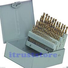 1 THRU 60 NUMBER WIRE GAUGE GAGE SIZES SIZE NUMBERED DRILL BIT TOOL SET INDEX