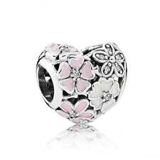 PANDORA S925 ALE STERLING SILVER & ENAMEL POETIC BLOOMS CHARM IN POUCH OR BOX