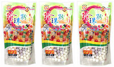 3 Packs of Wufuyuan Colour Tapioca Pearl 250g for Bubble Tea Drink Boba Milk tea