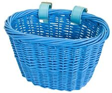 FRONT BICYCLE BIKE BASKET MINI WILLOW WICKER BASKET BLUE BEC90141