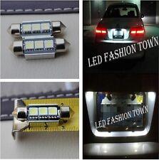 2x white 36mm LED license plate lights for audi a2 a3 a4 b5 b6 a6 a8 q7 tt d2