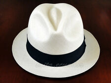 Trilby Straw Panama Hat - EXTRA FINO All Sizes - [Montecristi - Ecuador]