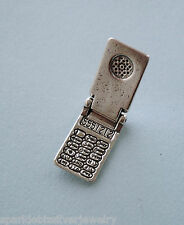 LP2559 Sterling Silver Cell Phone Movable Charm, No Stone