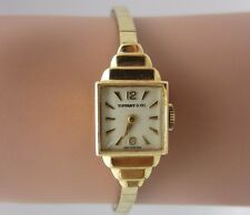 Vintage Tiffany & Co. Movado Art Deco Ladies Watch 14k gold with Original Box