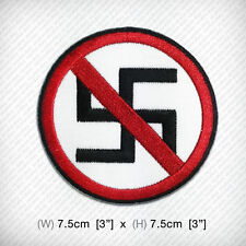 ANTI NAZI Badge Embroidered iron on patch DIY Decorate Clothes Dress Coat