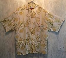 Quicksilver Silver Edition Tropical Hawaiian Design Short Sleeve Large Shirt