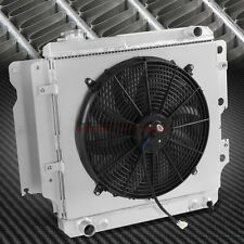 ALUMINUM TRI CORE RADIATOR+12V FAN SHROUD FOR 87-06 JEEP WRANGLER YJ/TJ 2.4-4.2