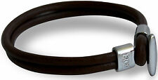 RDX Wrist Band Bracelet Leather Fashion Wristband Men Cuff Belt Style Brown