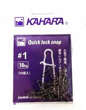 Kahara Quick Lock Lure Snap Size 1 (2069)