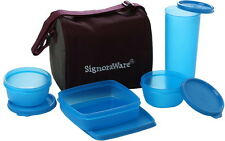 SIGNORAWARE BEST LUNCH BOX JUMBO WITH BAG (519) BLUE CLR - FOR EXECUTIVE PEOPLE