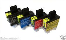 4 x tinta color para Brother DCP120C,DCP-120C,MFC-215C,MFC-5440 DCP-340CW LC900