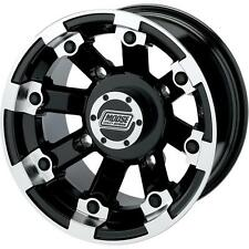Moose Black 393X Cast Aluminum ATV/UTV Wheel Rear 8 12 393MO128110BW4 0230-0524