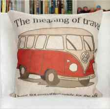 New Linen Cotton Natural Travel Combi Van Bus Cushion Cover Gift Vintage Home